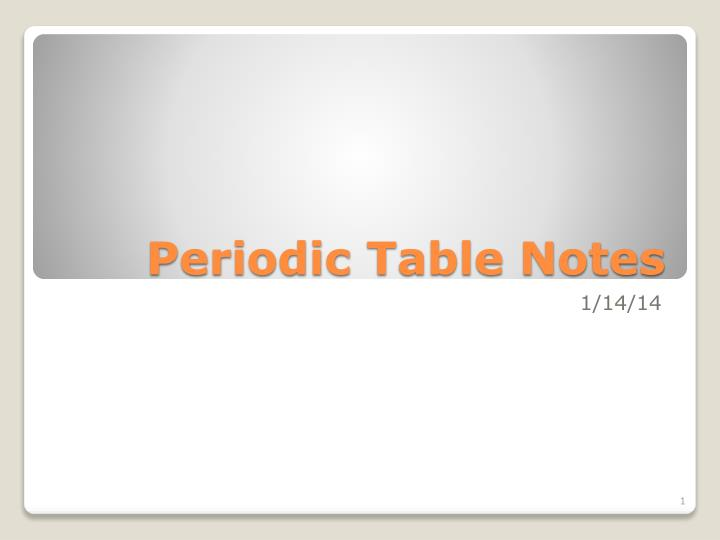 periodic table notes n.