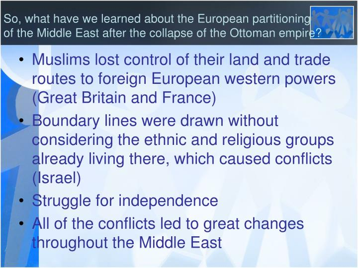 So, what have we learned about the European partitioning