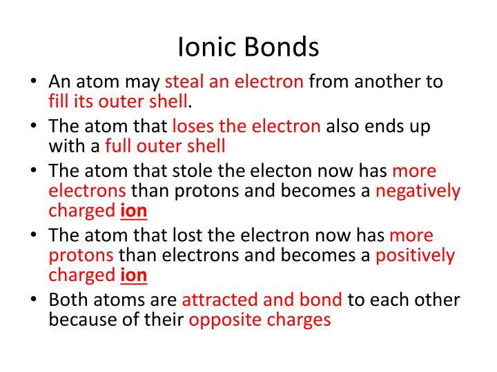 Ionic Bonds
