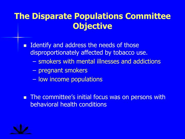 The Disparate Populations Committee Objective
