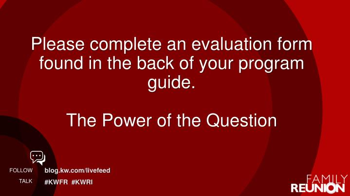 Please complete an evaluation form found in the back of your program guide.
