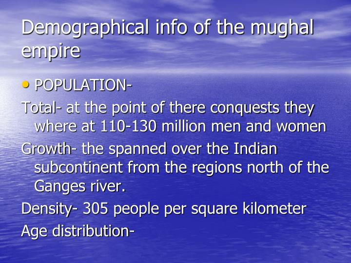 Demographical info of the mughal empire