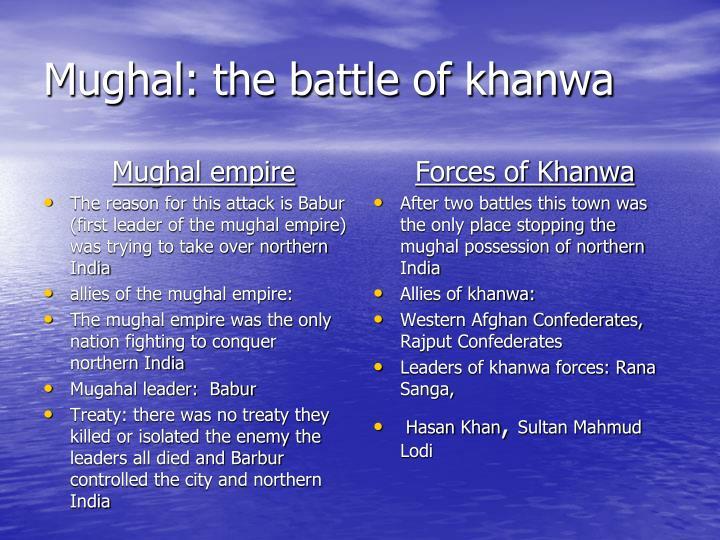 Mughal: the battle of khanwa