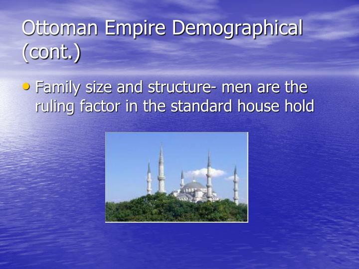 Ottoman empire demographical cont