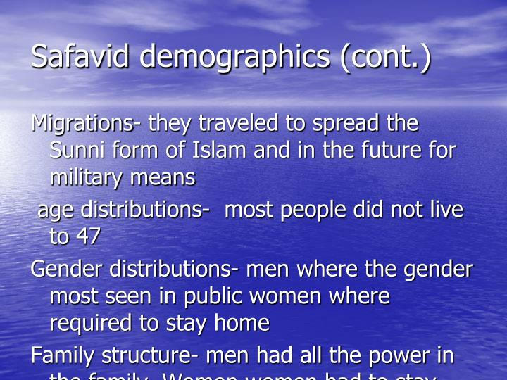 Safavid demographics (cont.)