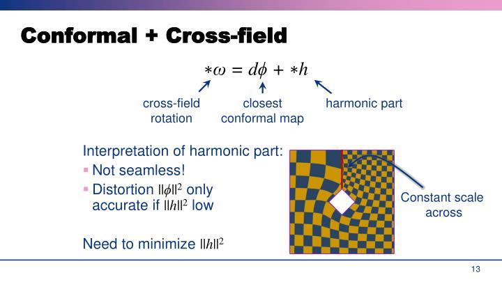 Conformal + Cross-field