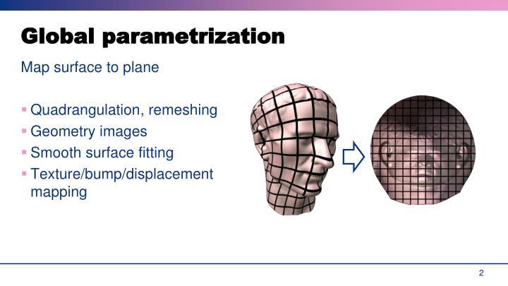 Global parametrization