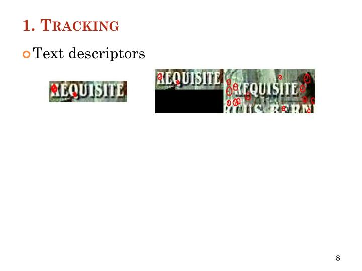 1. Tracking