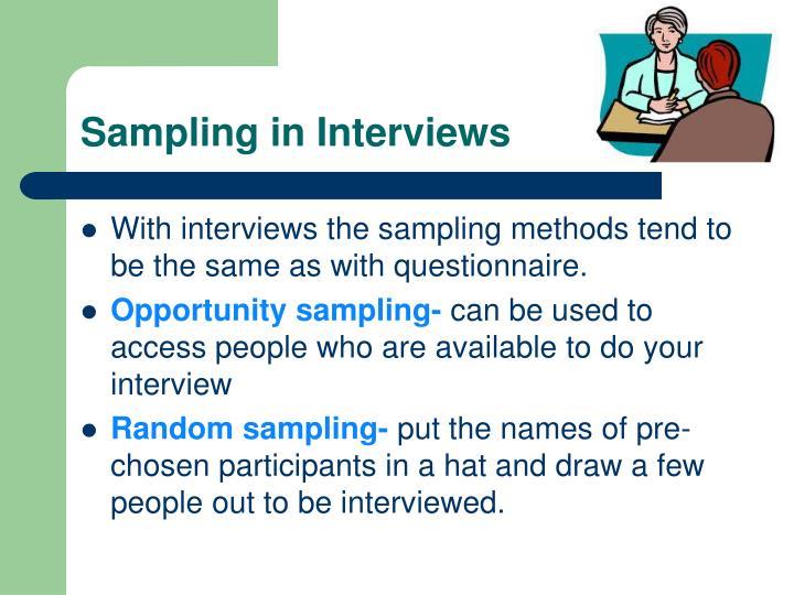 Sampling in Interviews