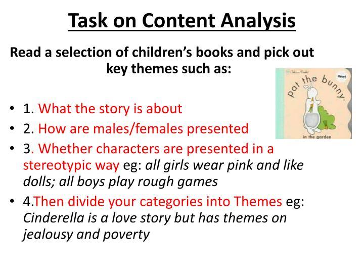 Task on Content Analysis