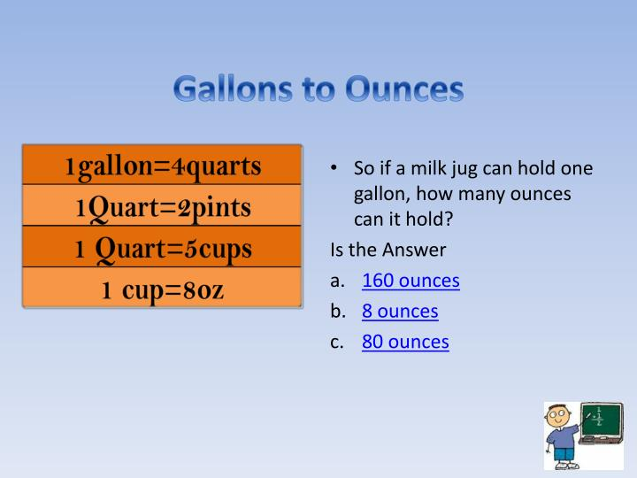 Gallons to Ounces