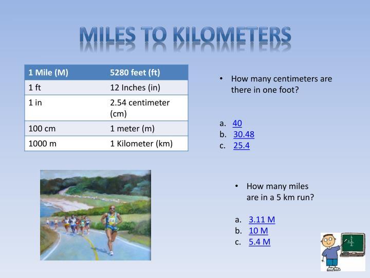Miles To Kilometers