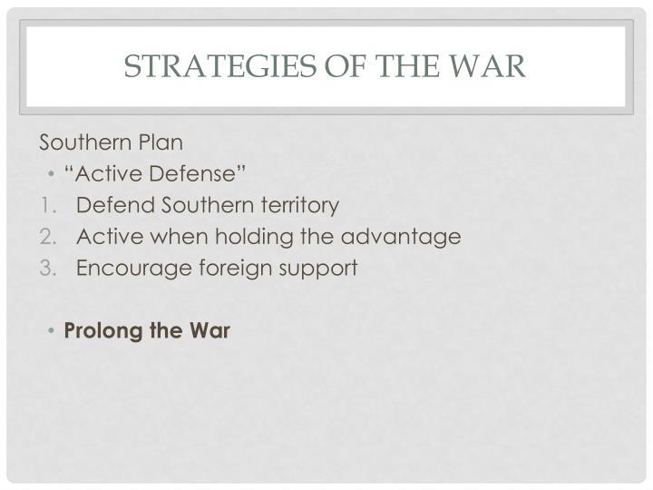 Strategies of the War