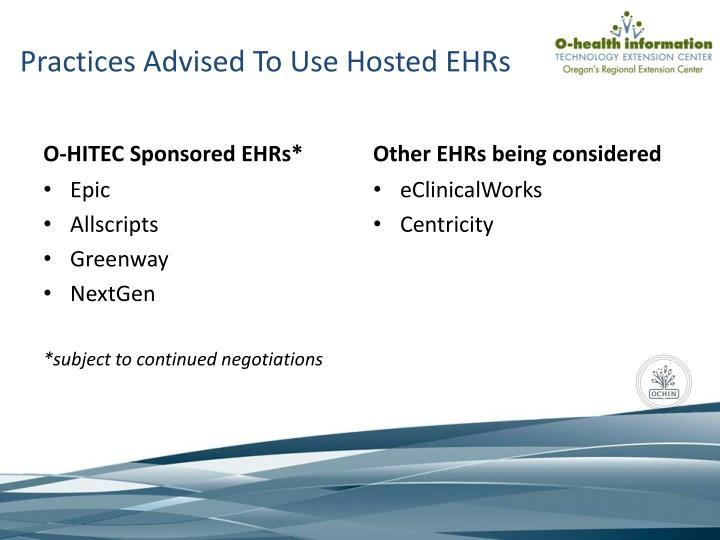 Practices Advised To Use Hosted EHRs
