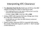 interpreting atc clearance