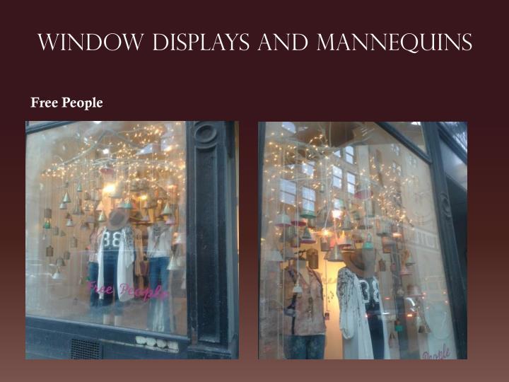 Window displays and mannequins