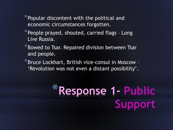 Response 1 public support