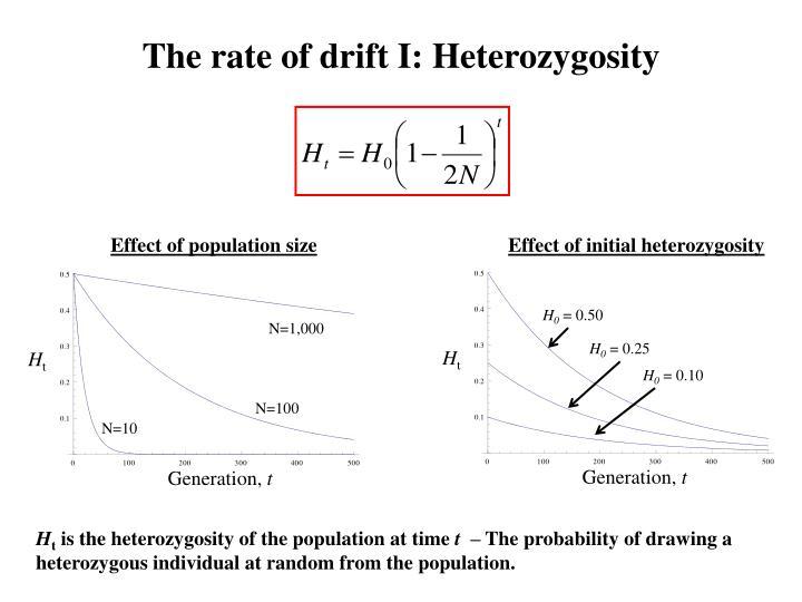 The rate of drift I: Heterozygosity