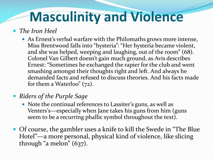Masculinity and Violence
