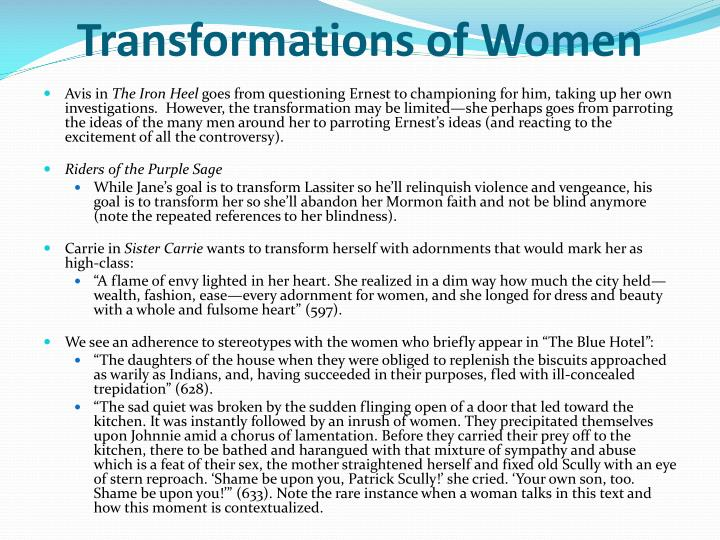 Transformations of Women