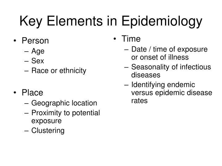Key Elements in Epidemiology