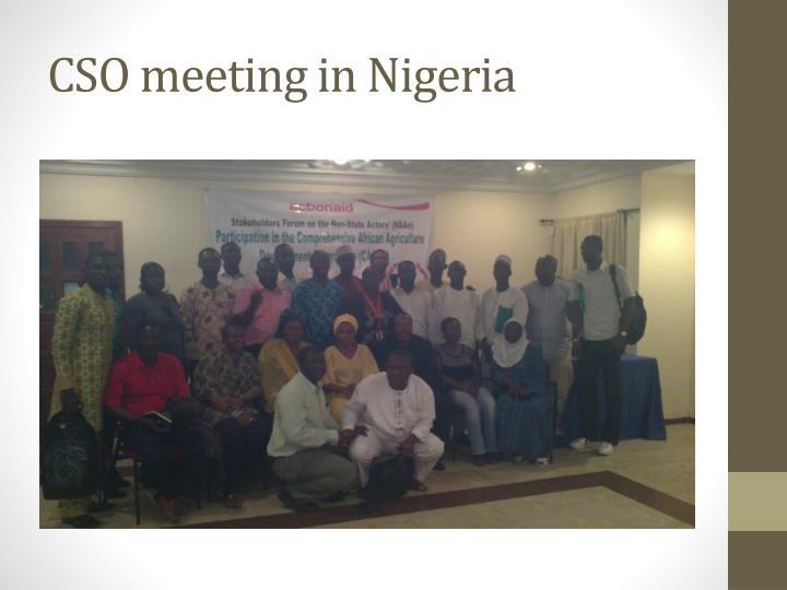 CSO meeting in Nigeria