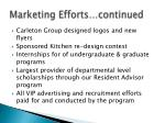 marketing efforts continued2
