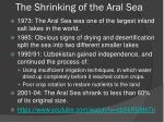 the shrinking of the aral sea