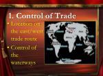 1 control of trade