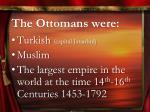 the ottomans were