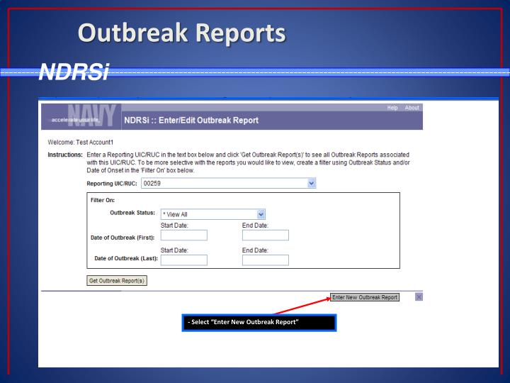 Outbreak Reports