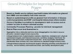 general principles for improving planning process