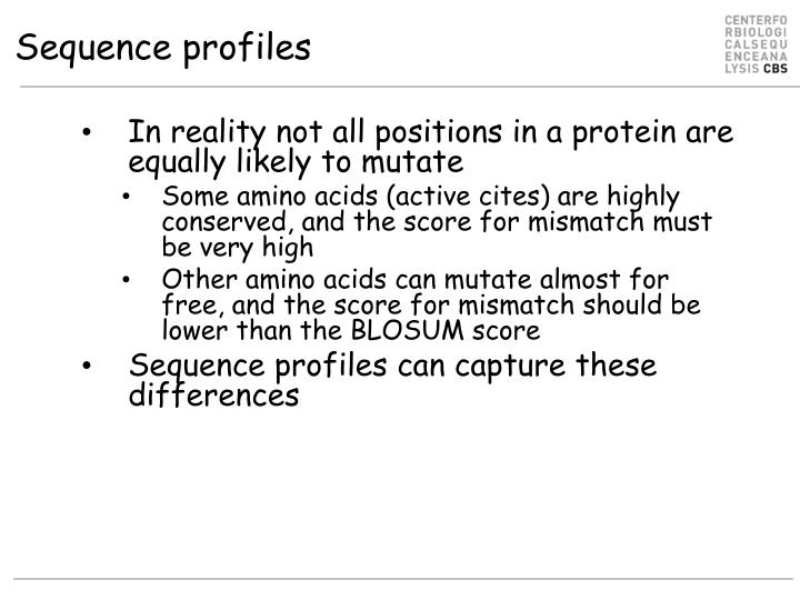 Sequence profiles