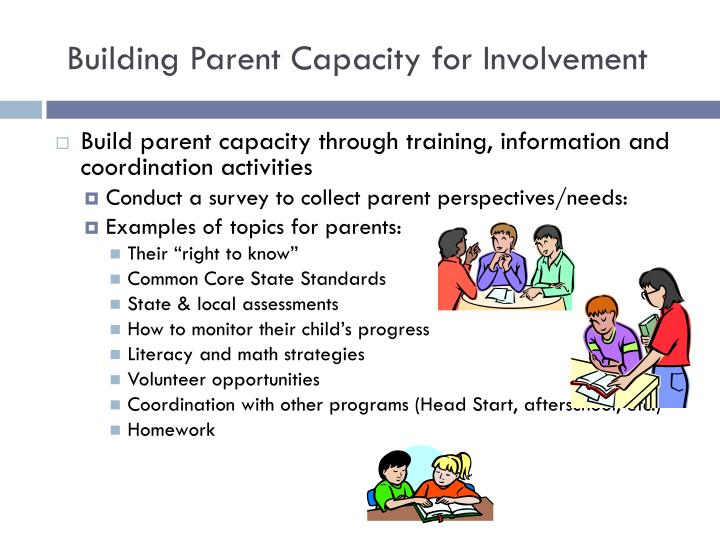 Building Parent Capacity for Involvement