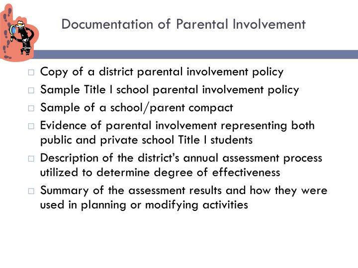 Documentation of Parental Involvement