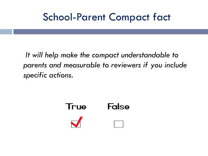 School-Parent Compact fact
