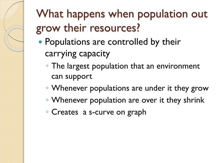 What happens when population out grow their resources?