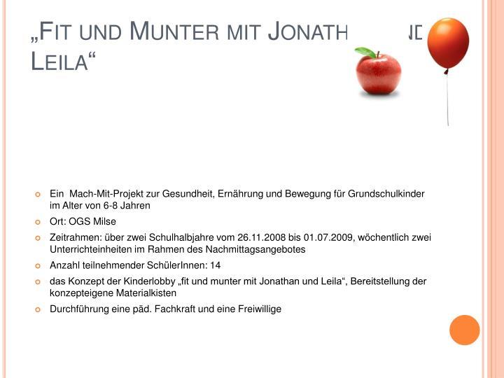 """""""Fit und Munter mit Jonathan und Leila"""""""