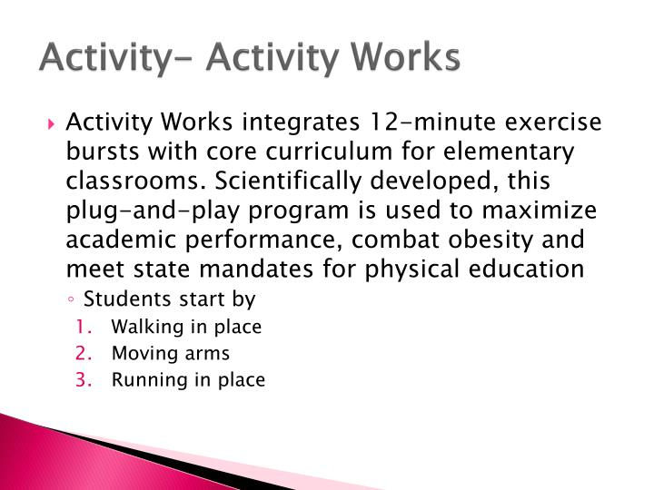 Activity- Activity Works