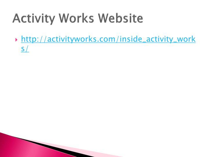 Activity Works Website