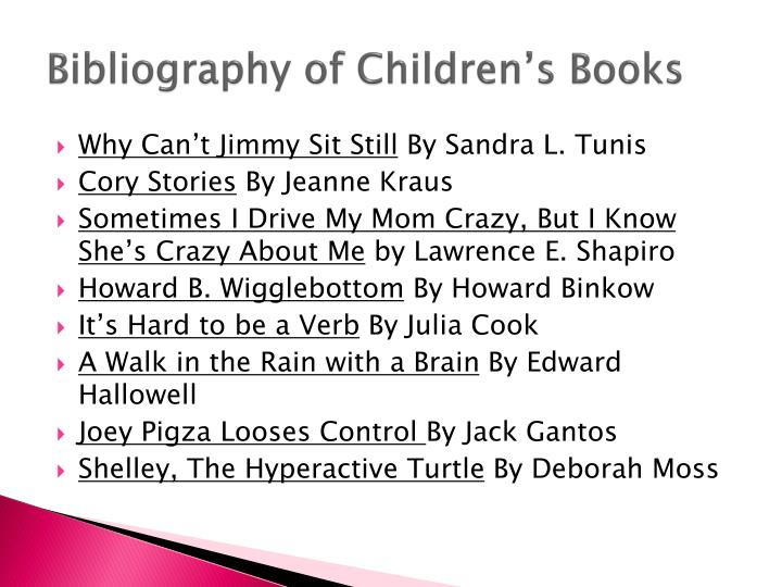 Bibliography of Children's Books
