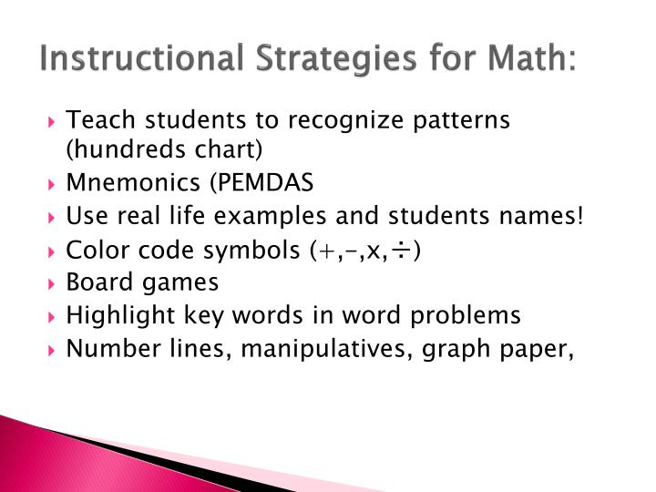 Instructional Strategies for Math: