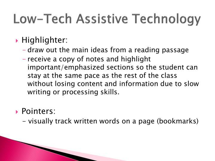 Low-Tech Assistive Technology