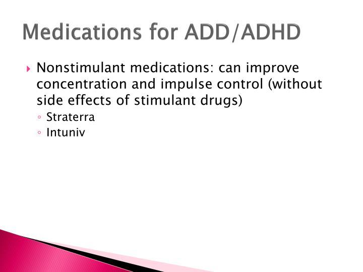 Medications for ADD/ADHD