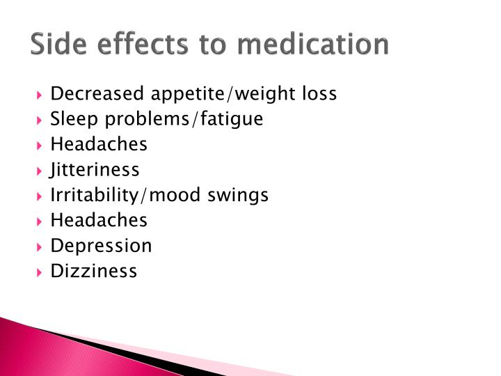 Side effects to medication
