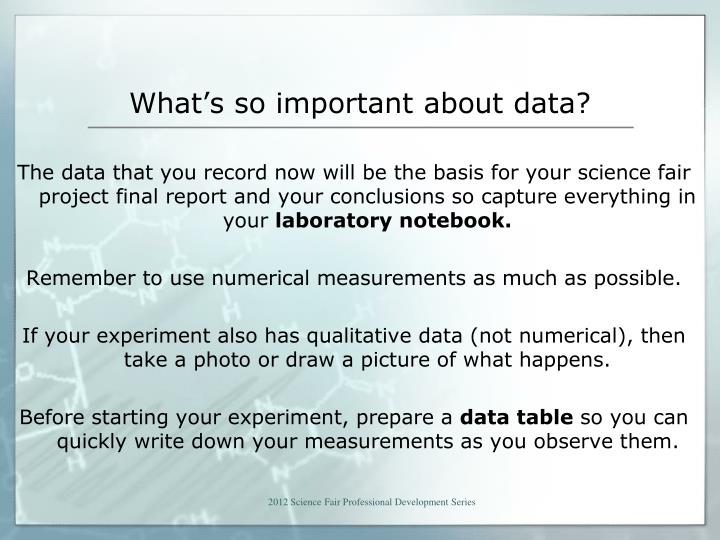 What s so important about data