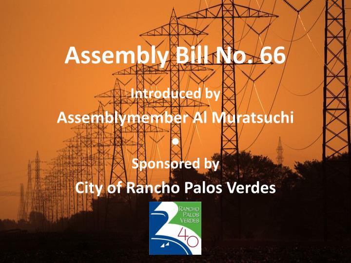 assembly bill no 66 n.