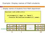 example display names of math students