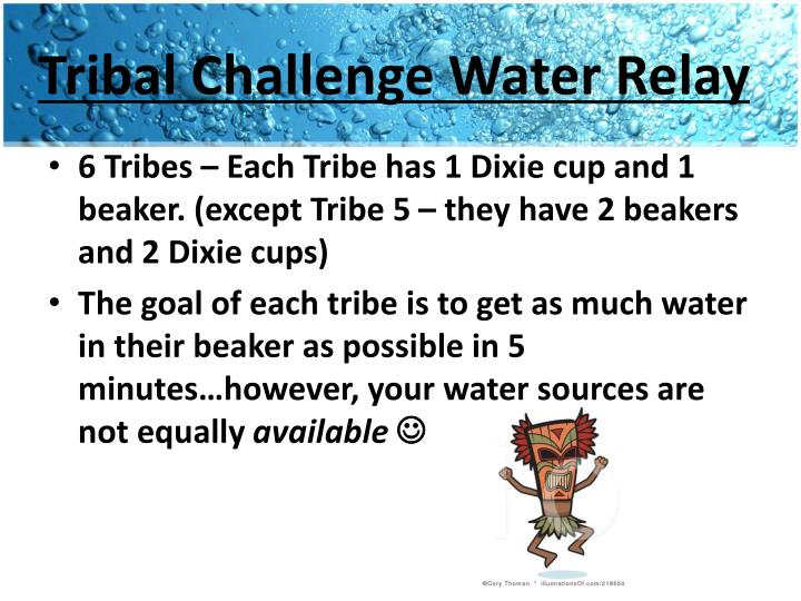 Tribal Challenge Water Relay