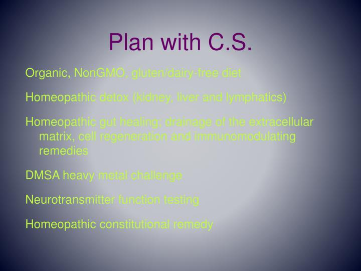 Plan with C.S.